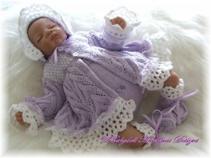 94774448749f Craft Passions  Beautiful Baby set..  free  knitting pattern link ...