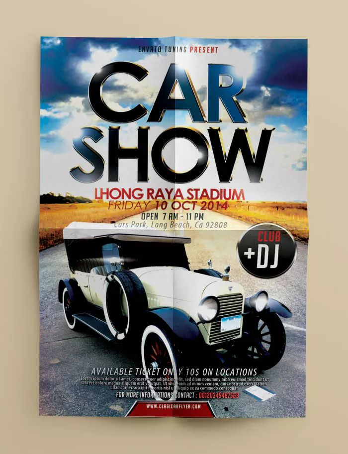 Car Show Flyer Template Psd Easy To Editable All Element