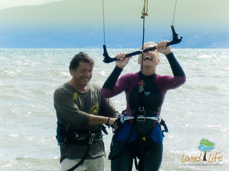 The Argolic Gulf is an ideal destination fir KiteSurfers. Come via LandLife to learn the reasons