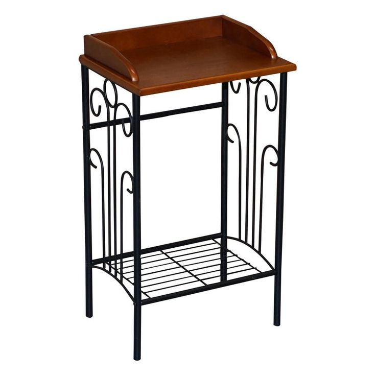 1stdibs Planter / Jardiniere – Lamp End Side Wine Table Jardinière Stand Nice Size Style English Modern Wrought Iron, Wood