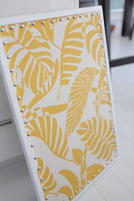 Fabric cork board