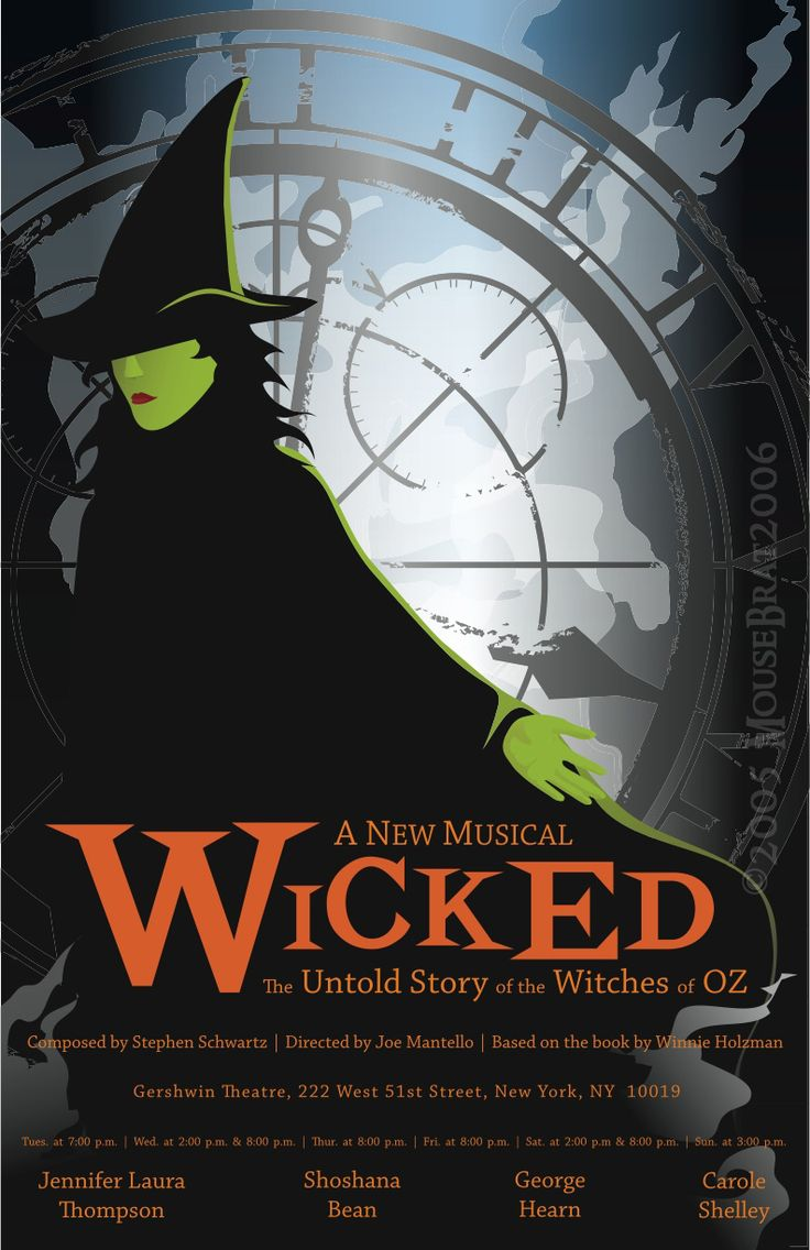 Wicked Poster   Musicals #DelilahJames