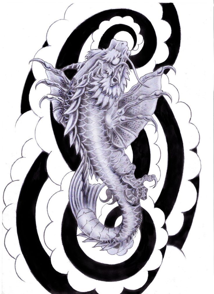 Dragon Koi Fish | koi dragon tattoo design by tylerrthemesmer