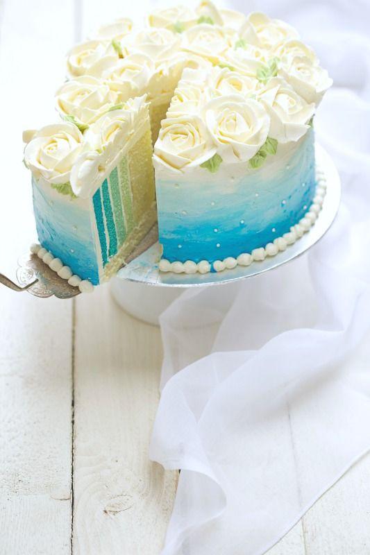 masam manis: SKY BLUE OMBRE CAKE