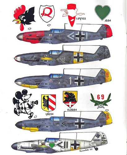 Bf 109 F color profile (2) | por GLORY. The largest archive of german WWII images