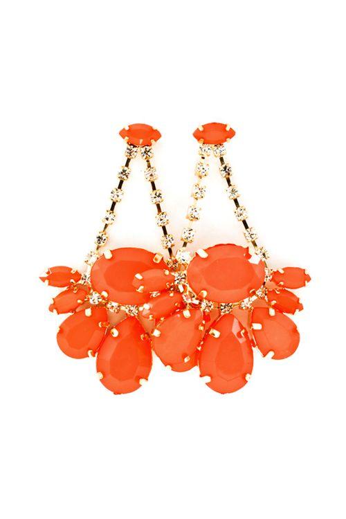 Glam Orange Earrings