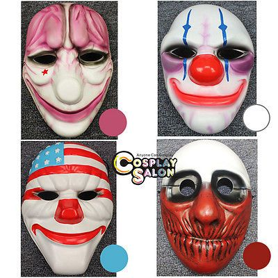 Payday 2 ii #anime mask 4 #styles joker halloween #party cosplay accessories ,  View more on the LINK: 	http://www.zeppy.io/product/gb/2/112238851048/