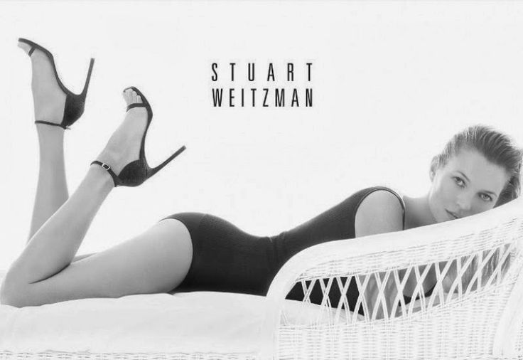 Kate Moss in Stuart Weitzman's Spring 2014 ad campaign ~ Luxury Ideas