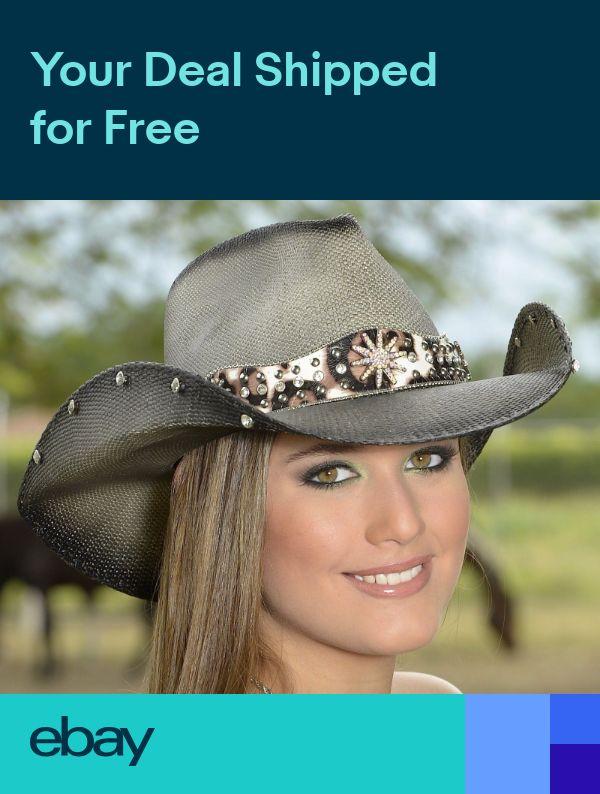 XL Bullhide Genuine Panama Gray Women/'s Straw Hat LIGHTING STRIKE  S M L