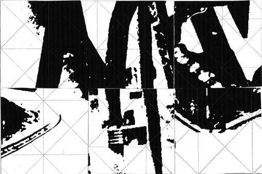 Sérgio Costa: Works - Sampling puzzle, 2003  Collage on paper  9x13,5 cm