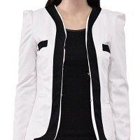 Damen-Blazer-kurz-Jacke-Oberteil-Tops-ohne-Kragen-DR498-0