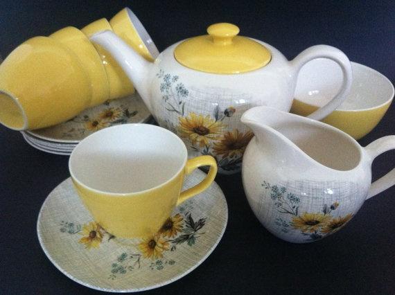 Retro Kitsch Vintage 1950's J  G Meakin Tea by OhmyKitschVintage on Etsy, £54.00