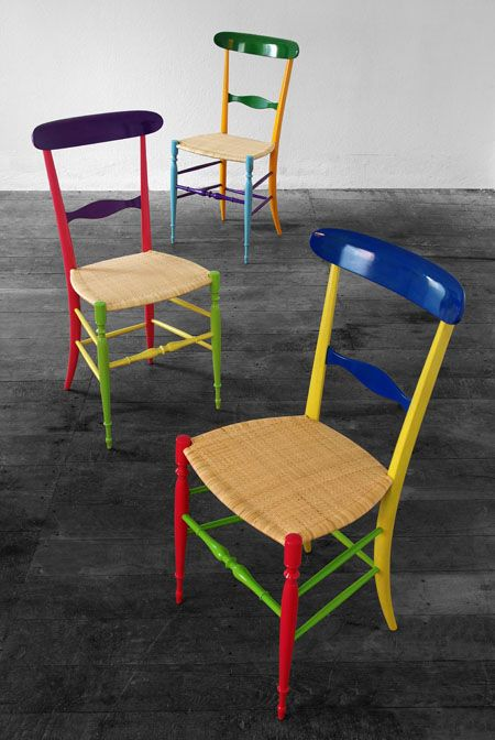 Chiavarina Supercolor by Fratelli Levaggi, Design Davide Conti #chiavarichairs #fratellilevaggi #sediadichiavari