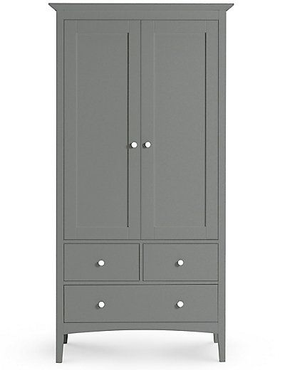 Hastings Double Wardrobe Dark Grey | M&S