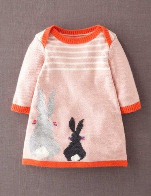 I've spotted this @BodenClothing My Baby Knitted Dress Pale Pink Rabbit