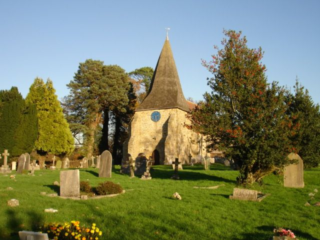 Mountfield Church, Battle, East Sussex, destroyed after the Battle of Hastings in 1066. Rebuilt between 1180 and 1200.