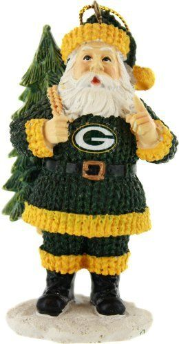 Green Bay Packers Santa Toting Tree Ornament Awww, how cute is this <3