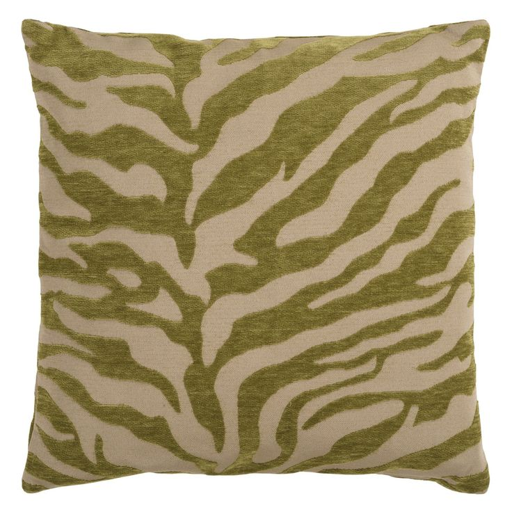 Surya Zebra Decorative Pillow - Avocado | from hayneedle.com