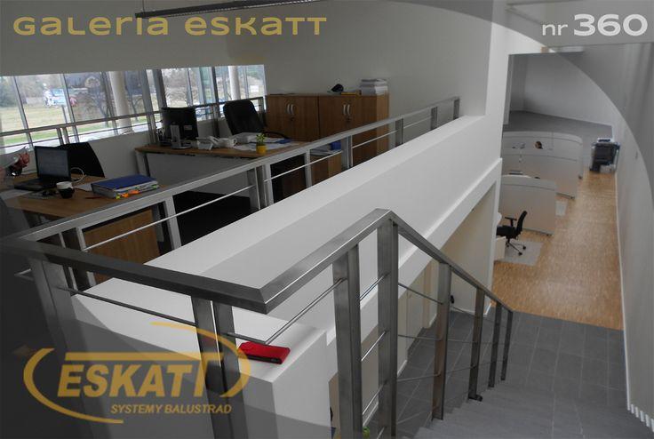 Stainless steel balustrade, horizontal filling #balustrade #eskatt #construction #stairs