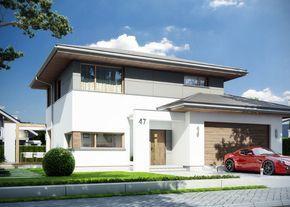 Projekt domu: Modena - Widok od frontu