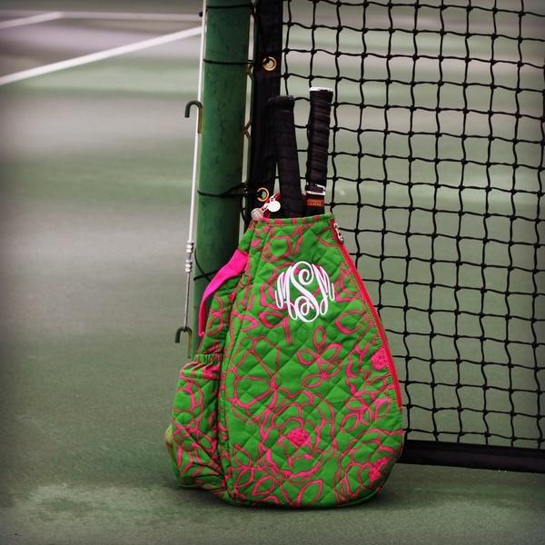 Preppy Pink & Green Tennis Backpack. My tennis bag is ...