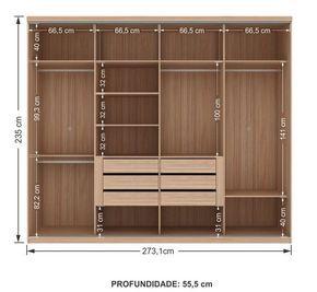 Interior armario 4 puertas Más