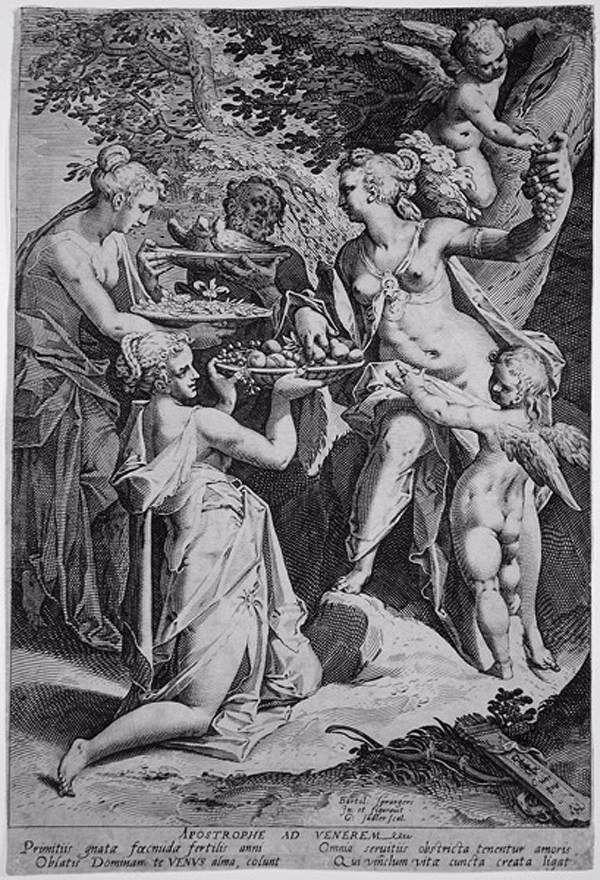 SADELER, Aegidius II Venus Receiving Gifts - Engraving, 281 x 190 mm Private collection