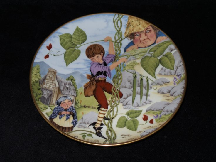 """1983 Kaiser Traditional Fairy Tales """"Jack and the Beanstalk"""" Collector Plate by Dorothea King by ThePlateHutchII on Etsy"""