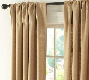 Pottery Barn Burlap Curtains by jackataff