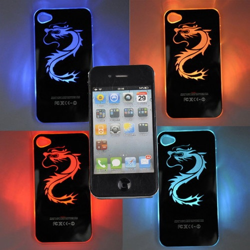 sense flashlight dragon led lcd color changing iphone 4s case usd beautiful iphone. Black Bedroom Furniture Sets. Home Design Ideas