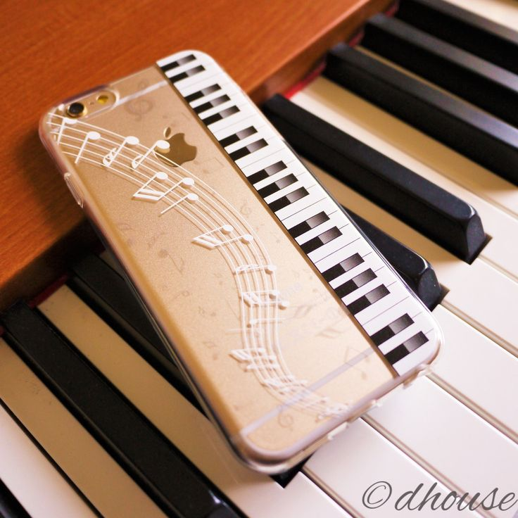 MADE IN JAPAN Soft Clear TPU Case Piano Sheet Music design for iPhone 6 & iPhone 6s