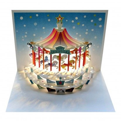 Christmas Carousel - Amazing Pop-up Greeting Card