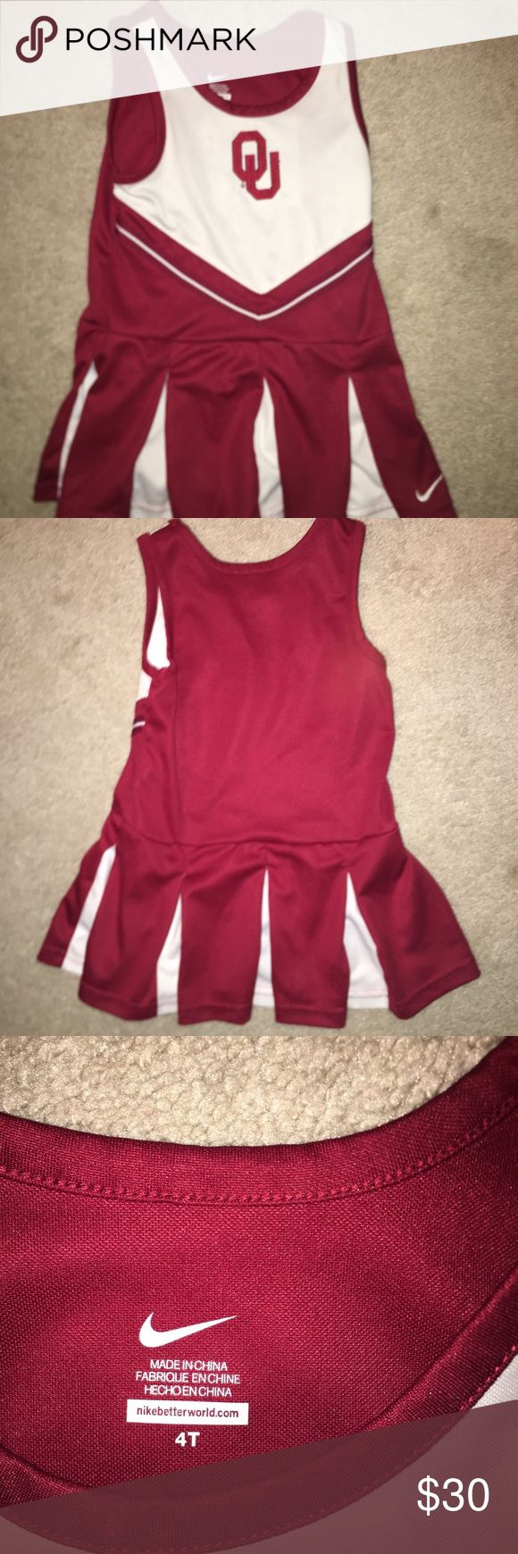 Cheerleading outfit OU cheerleading outfit! Great condition Nike Other
