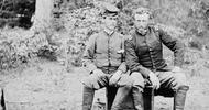 Civil War Photos // Library of Congress George Custer -- Union & Confederate POW John Washington -- ex-classmates from West Point
