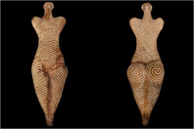 Sculptures unearthed from the Cucuteni Culture of Eastern Europe circa 4000 B.C.E. which would be part of the Indo-European Empire of the Stones that stretched from Orkney to ancient Egypt and India.