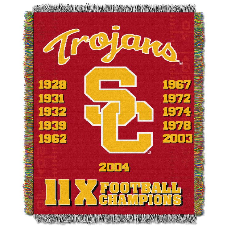 "USC College """"Commemorative"""" 48x60 Tapestry Throw"