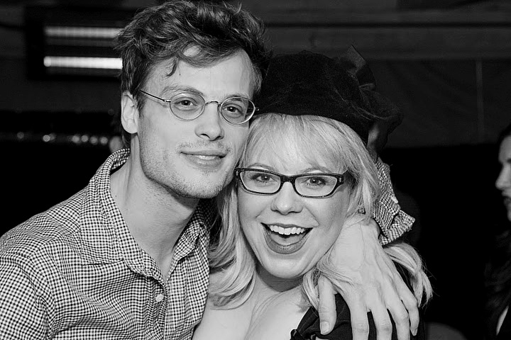 Matthew Gray Gubler And Kristen Vangsness.     Reid and Garcia