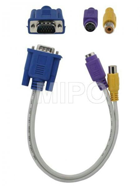 Kabel VGA to S-Video + AV  Harga rp75.000 Info detail di : www.tokomipo.com