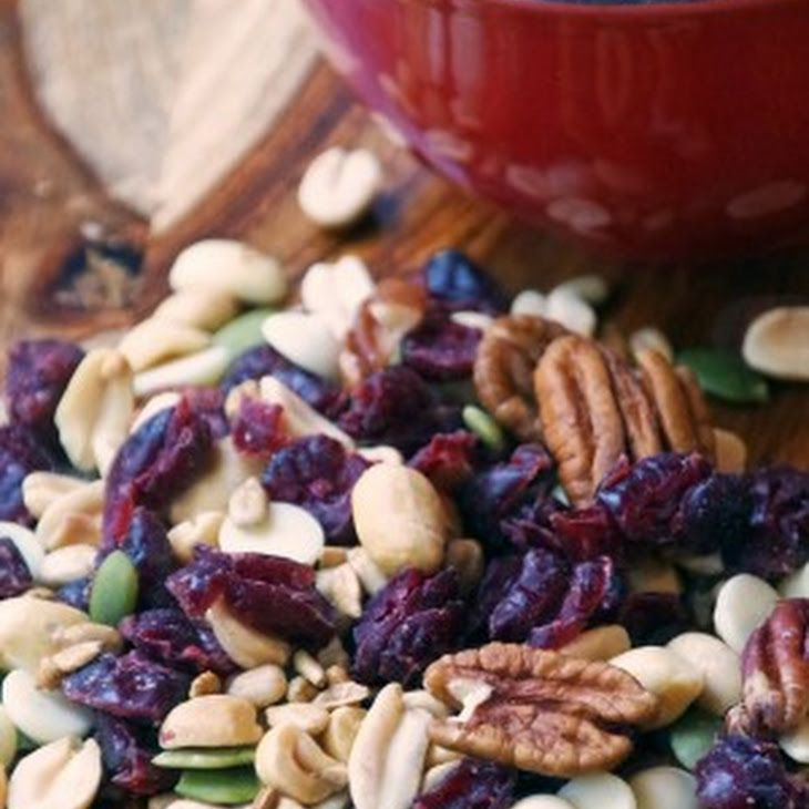 Sweet Salty Trail Mix Recipe and the Power of Peanuts! Recipe Lunch, Snacks with Planters Peanuts, dried cranberries, pecans, white chocolate chips, pepitas, sunflower seeds