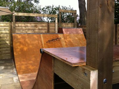 Skateboard and Scooter ramps - half pipes- quater pipes - skateboard garden ramps