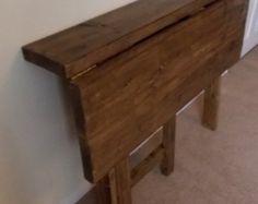 Mesa de cocina rústica espacio ahorro gota hoja barra 014