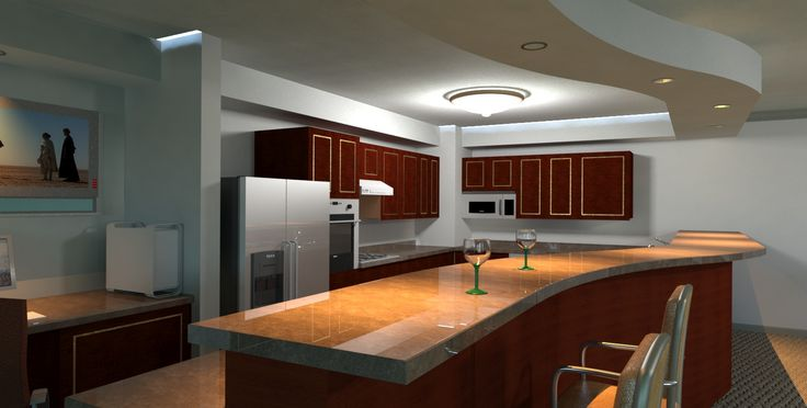 Virtual Kitchen Rendering From Mental Ray In 3ds Max
