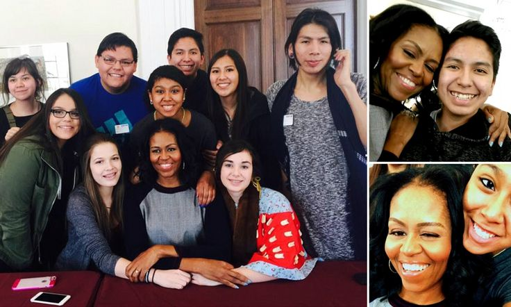 A group of Native American students from Montana got the surprise of their lives earlier this month while visiting Sidwell Friends School in Washington DC when they met Michelle Obama.