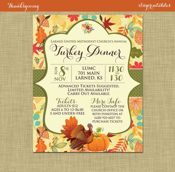 free thanksgiving flyer template