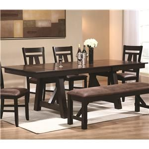 Bunker Country Brown Black Wood Dining Table Bunker Rectangular Double Pedestal Dining Table With Leaves By