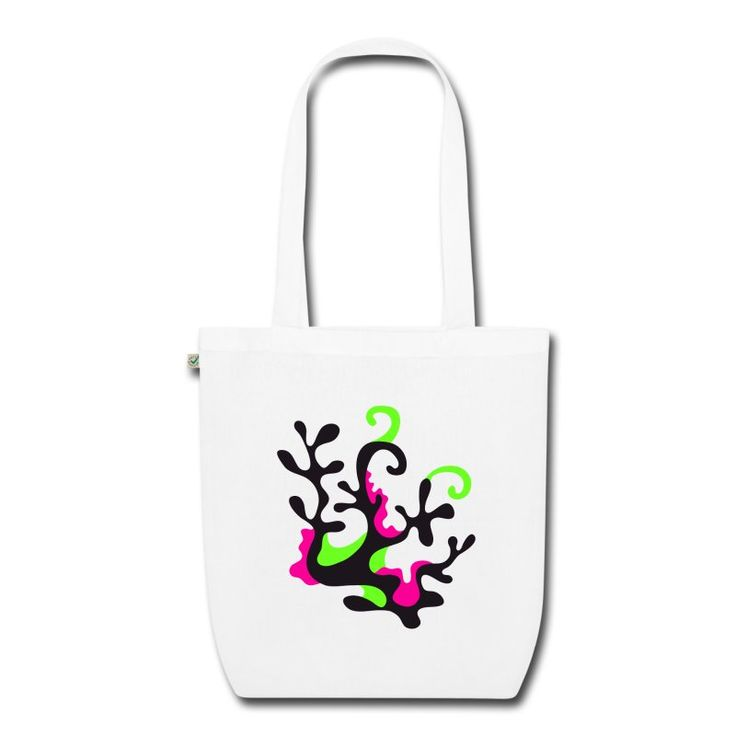 Neon Coral ostoskassi. Neon Coral shopping bag.