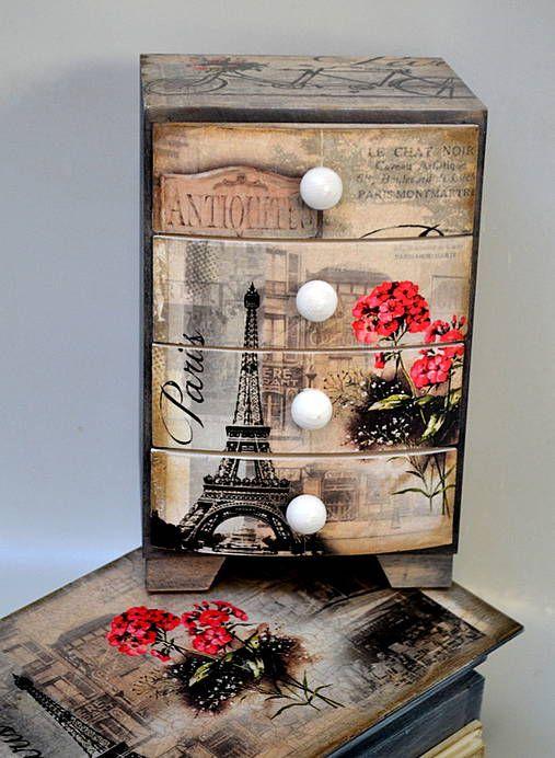 Komodka Okolo sveta-Paris / Pupavkashop - SAShE.sk - Handmade Dekorácie