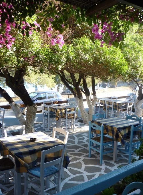 A small cafe in Astypalaia island, Greece