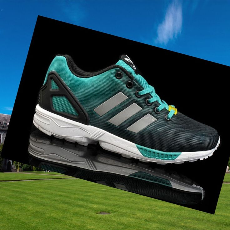 Reflective Turquiose-Green,Black,Silver,Grey Adidas Zx Flux Women's Shoes,