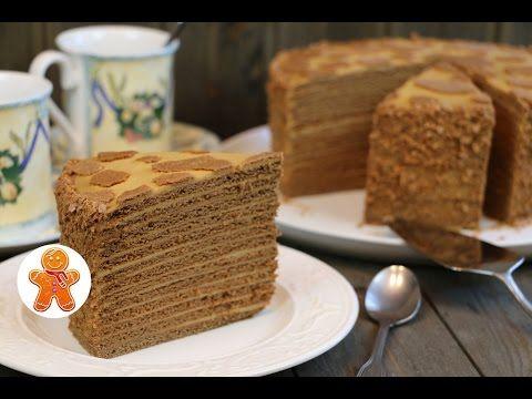 """Медовый торт """"Коровка"""" - YouTube"""